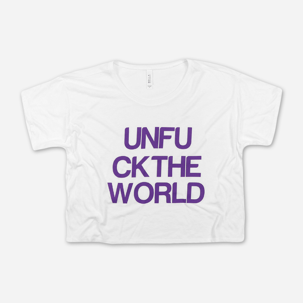 UNFUCKTHEWORLD White T-Shirt - Angel Olsen - Hello Merch