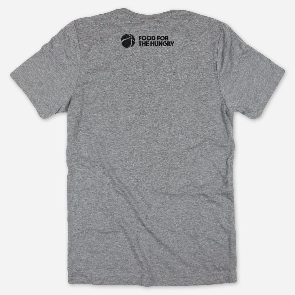 Until Poverty Is Over Grey Tri-Blend - Food For The Hungry - Hello Merch