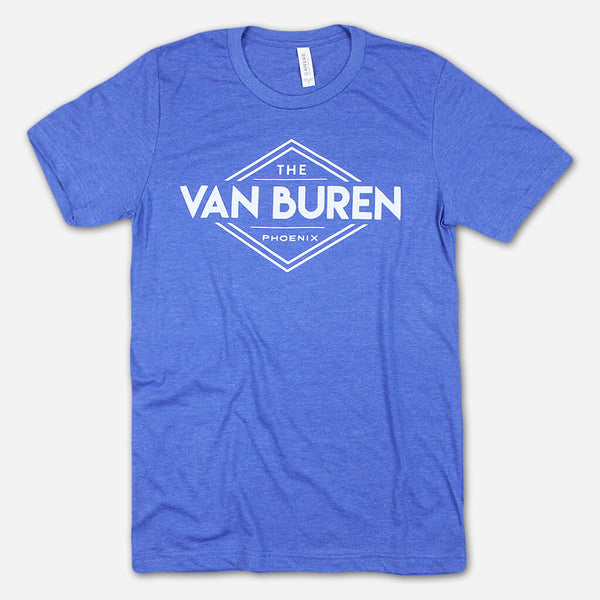 TVB Logo Heather Royal T-Shirt by The Van Buren for sale on hellomerch.com