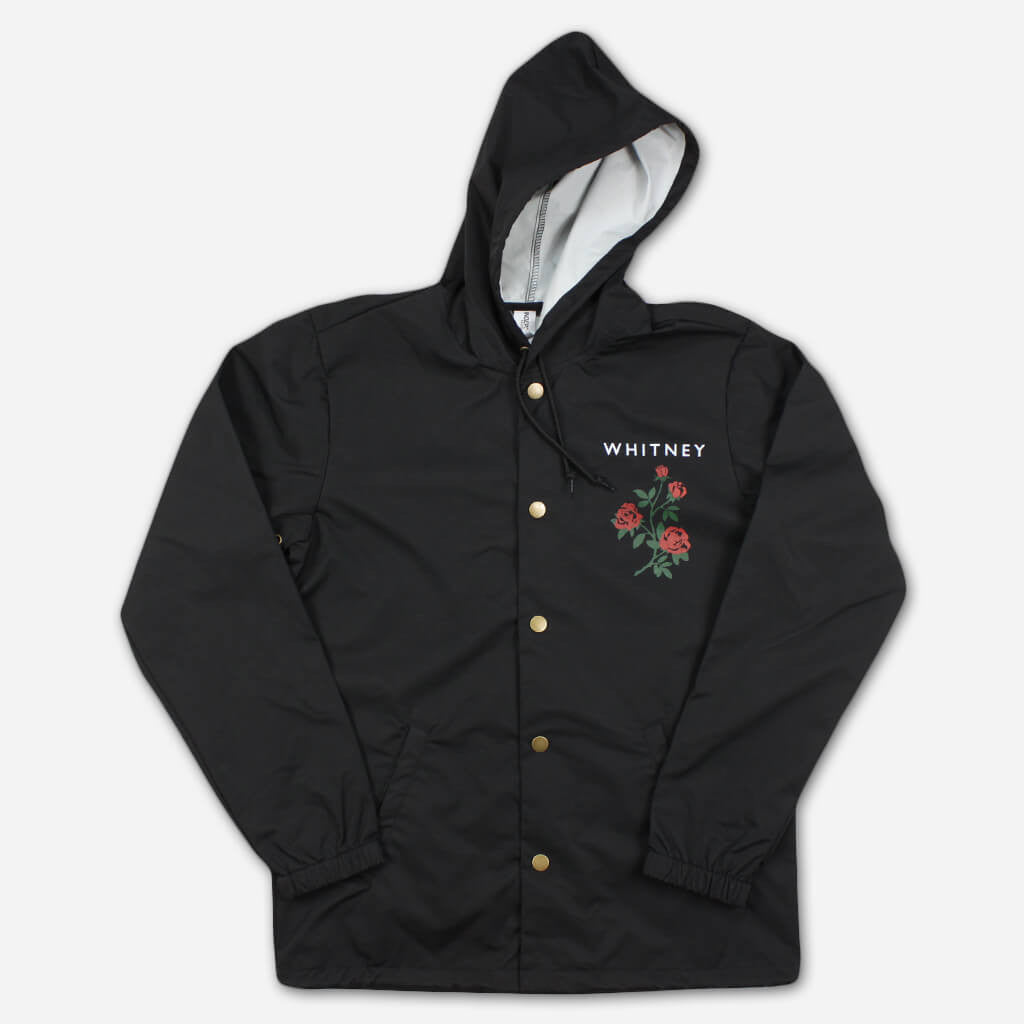 Rose Black Windbreaker - Whitney - Hello Merch