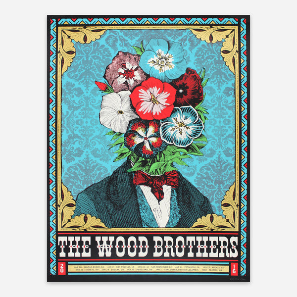 West Coast Tour 2016 Poster by The Wood Brothers for sale on hellomerch.com