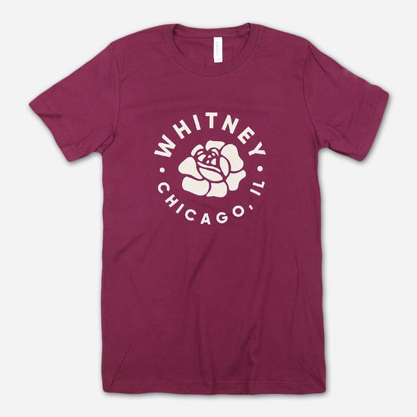 Circle Maroon T-Shirt by Whitney for sale on hellomerch.com