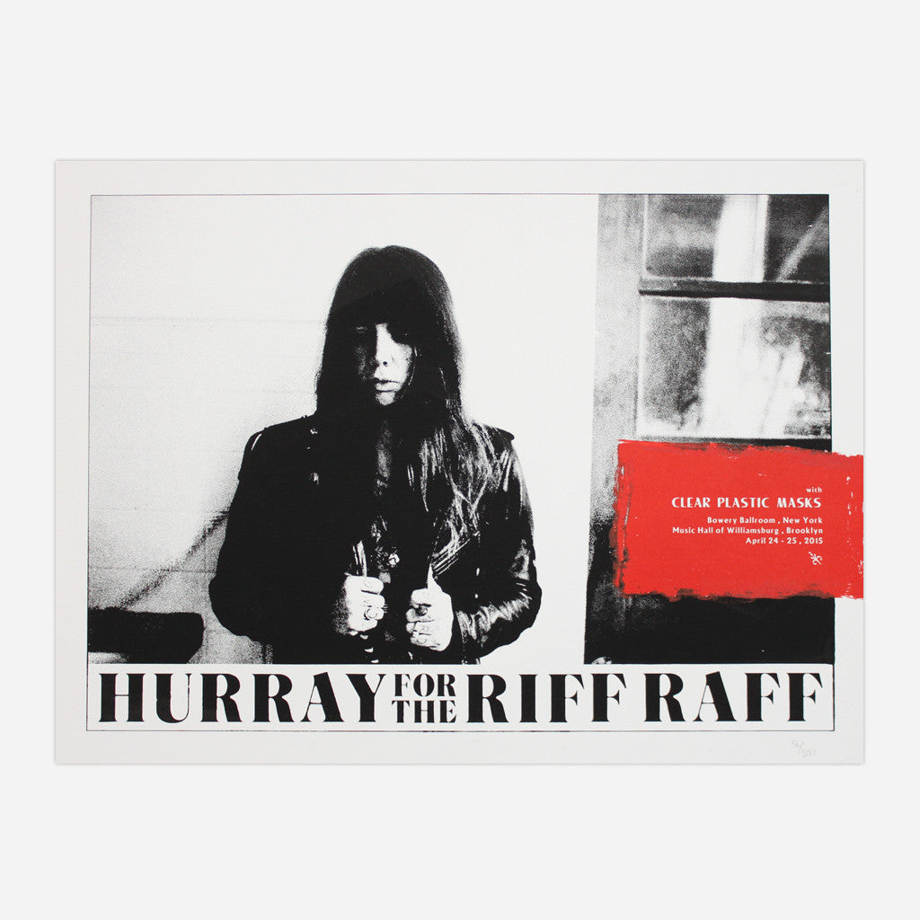 HFTRR With Clear Plastic Masks Show Poster - Hurray for the Riff Raff - Hello Merch