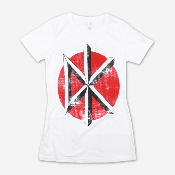 e5a23a8b383924 Distressed Logo Women s White T-Shirt by Dead Kennedys for sale on  hellomerch.com