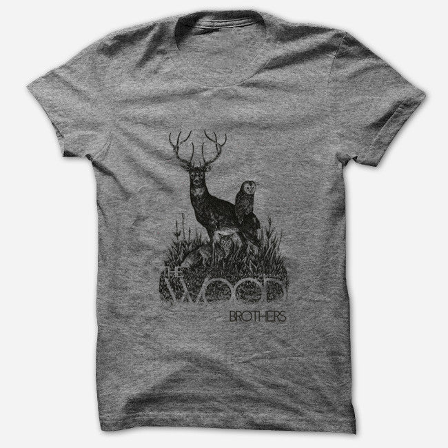Woodland Heather Grey T-Shirt - The Wood Brothers - Hello Merch