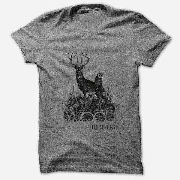 Woodland Heather Grey T-Shirt by The Wood Brothers for sale on hellomerch.com