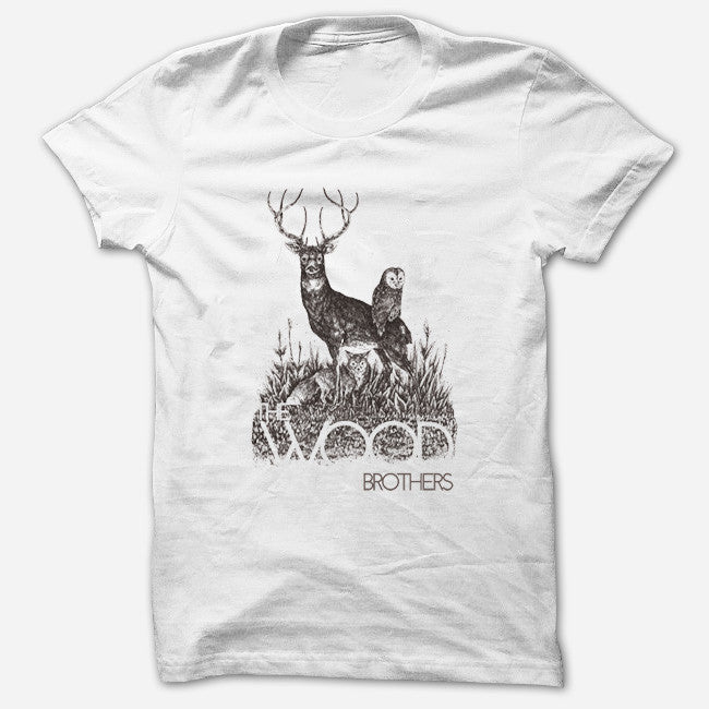Woodland White T-Shirt - The Wood Brothers - Hello Merch