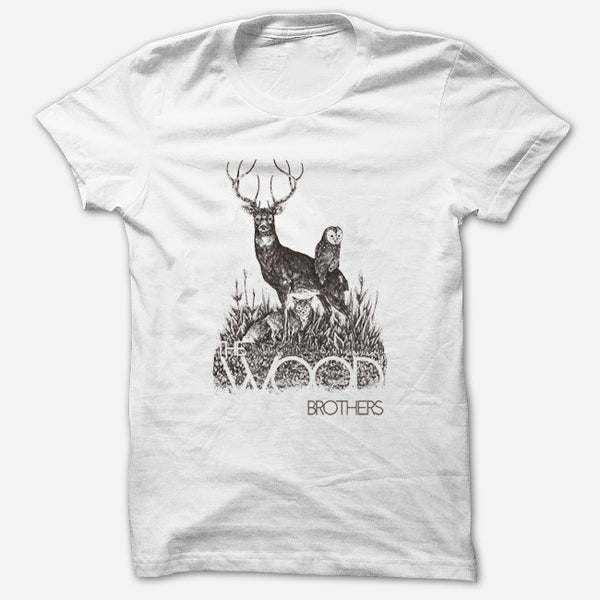Woodland White T-Shirt by The Wood Brothers for sale on hellomerch.com