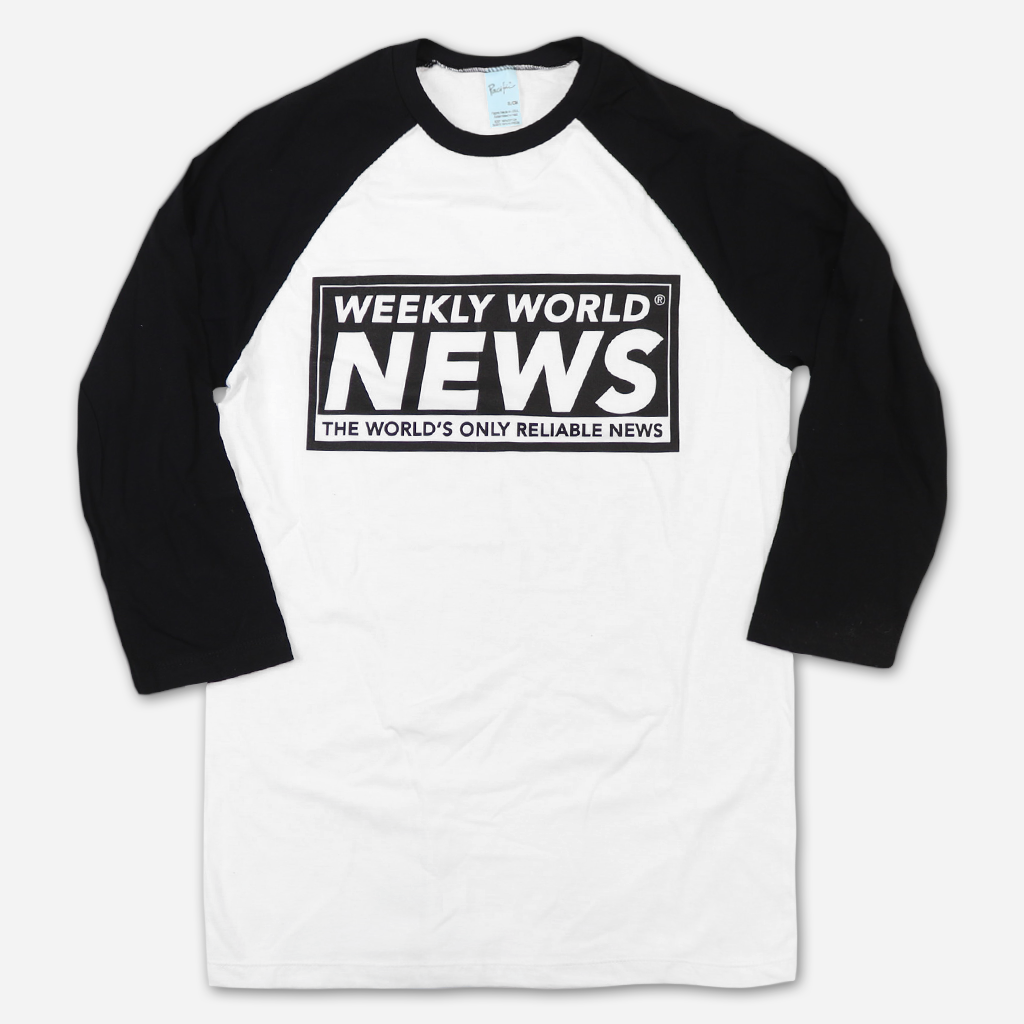 WWN Logo White & Black 3/4 Sleeve Raglan T-Shirt