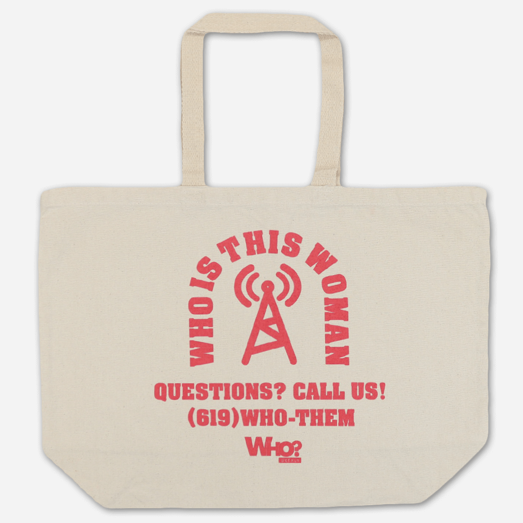Who Is This Woman? Natural Tote Bag