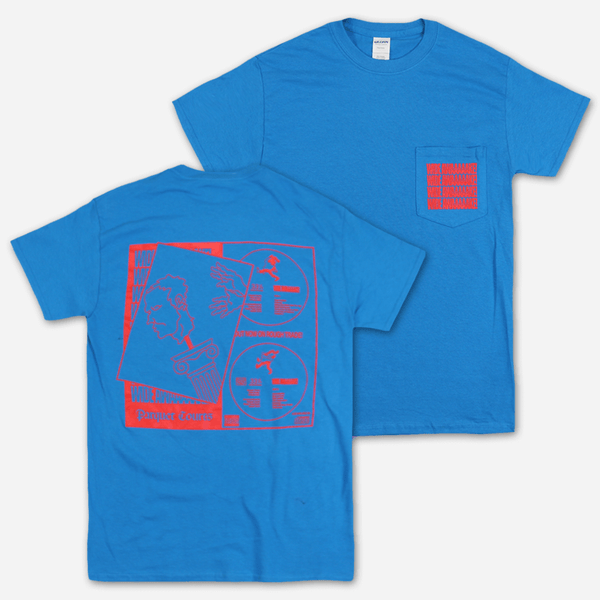 Falling Statue Sapphire Pocket T-Shirt by Parquet Courts for sale on hellomerch.com