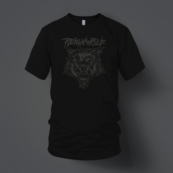 Wolf Head Black T-Shirt by Reignwolf for sale on hellomerch.com