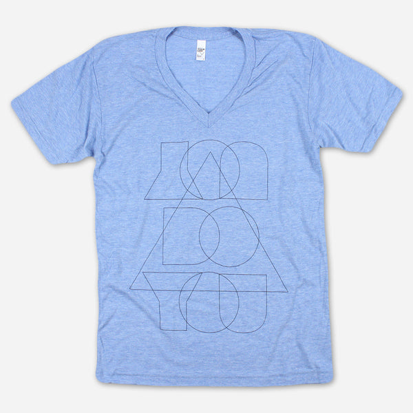 You Do You Athletic Blue Tri-Blend Tee by Autostraddle for sale on hellomerch.com