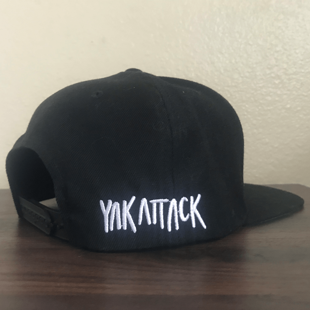 Yak Black Snapback Hat