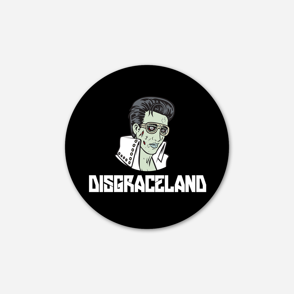 Zombie Elvis Sticker