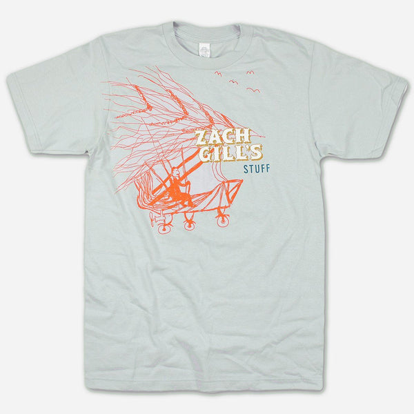 Flying Machine Alt Grey T-Shirt by Zach Gill for sale on hellomerch.com