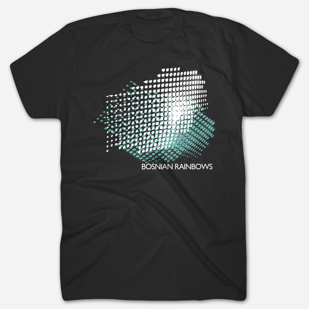 Bosnian Rainbows - Grid Black T-Shirt