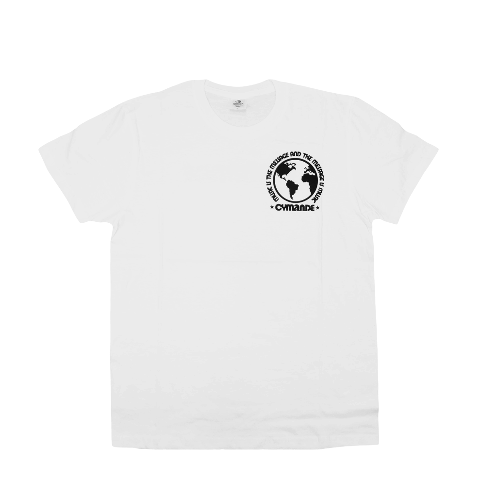 The Message - Globe White T-Shirt