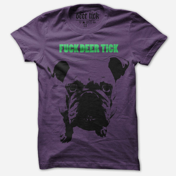 F*** Deer Tick Purple T-Shirt by Deer Tick for sale on hellomerch.com