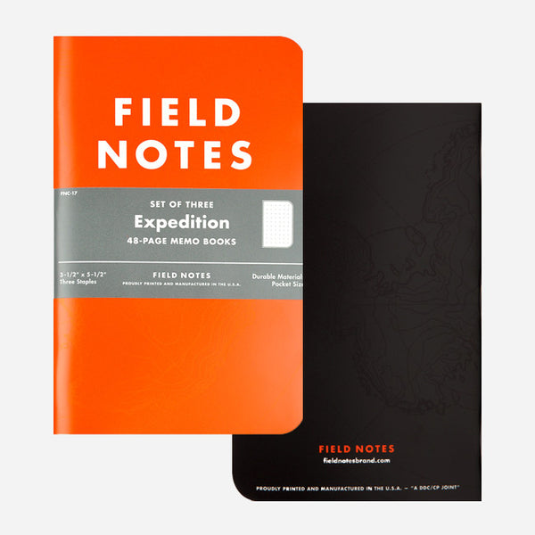 Colors Edition: Expedition 3-Pack by Field Notes for sale on hellomerch.com