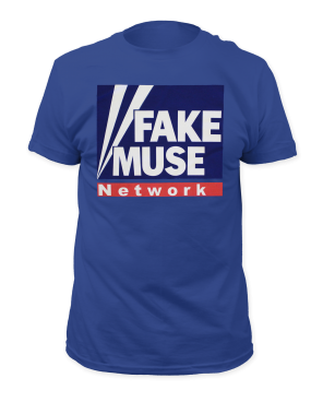 Fake Muse Blue T-Shirt by Tori Amos for sale on hellomerch.com