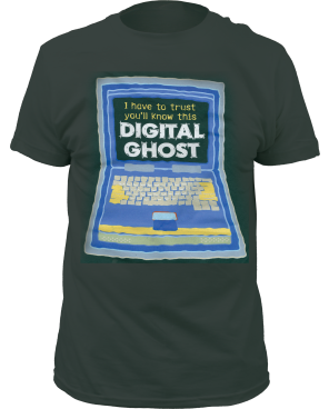 Digital Ghost Women's Green T-Shirt by Tori Amos for sale on hellomerch.com