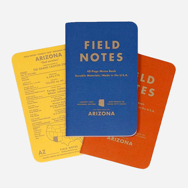 County Fair Edition: Arizona 3-Pack - Field Notes - Hello Merch
