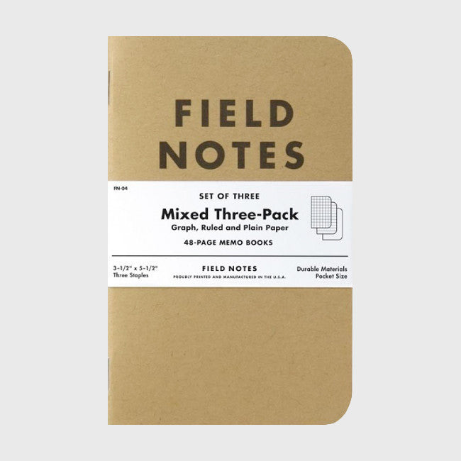Mixed Paper 3-Pack - Field Notes - Hello Merch