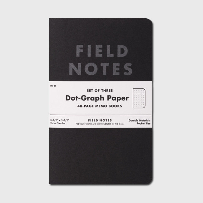 Pitch Black: Dot-Graph Paper 3-Pack