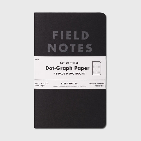 Pitch Black: Dot-Graph Paper 3-Pack by Field Notes for sale on hellomerch.com
