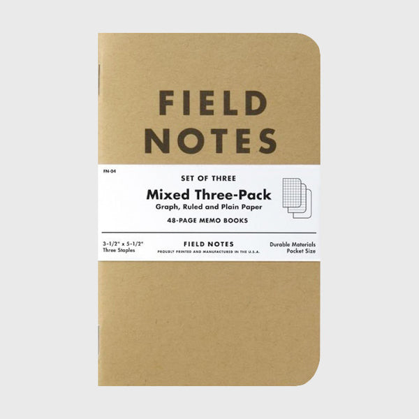 Mixed Paper 3-Pack by Field Notes for sale on hellomerch.com