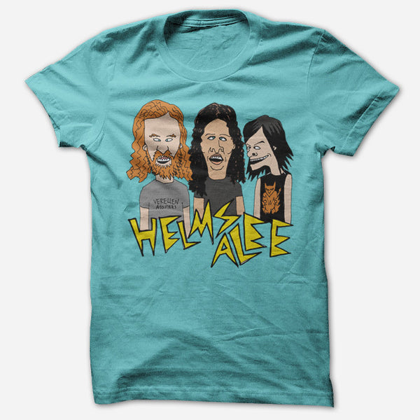 Beavis & Butthead Tahiti Blue T-Shirt by Helms Alee for sale on hellomerch.com
