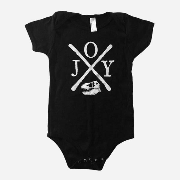 Hardcore Rex Baby One-Piece with snaps by Jenny Owen Youngs for sale on hellomerch.com