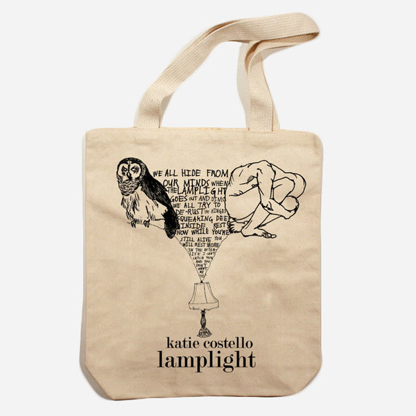 Lamplight Tote Bag by Katie Costello for sale on hellomerch.com