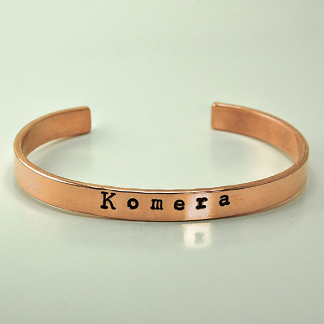 Komera Copper Cuff - Komera - Hello Merch