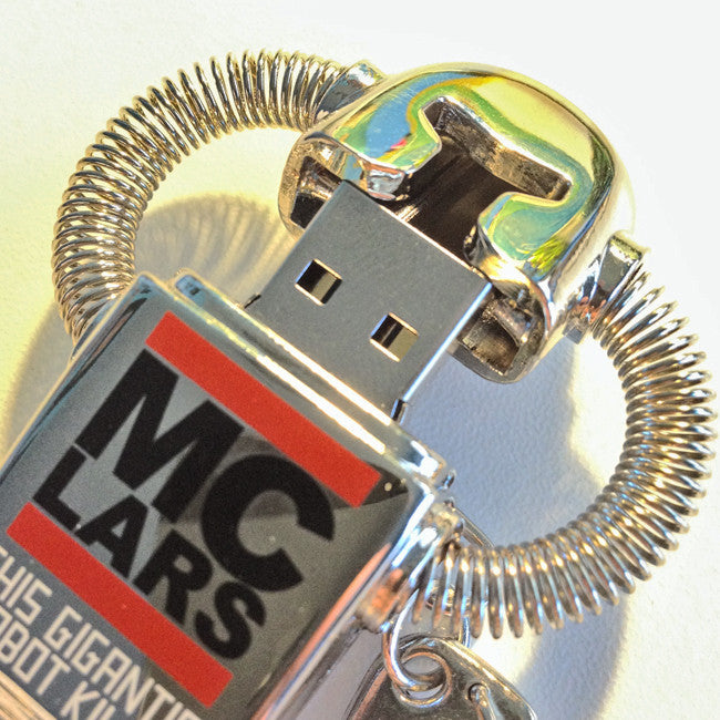 4GB USB Robot with Complete Discography - MC Lars - Hello Merch