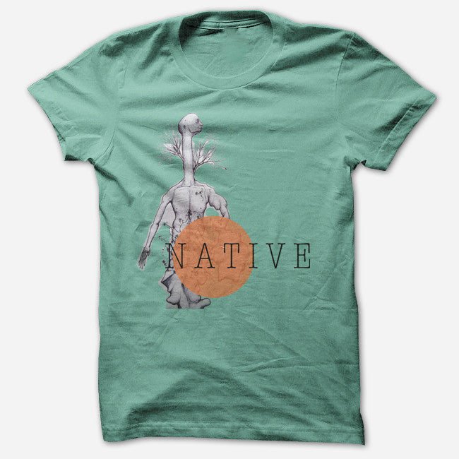 Treeman Mint T-Shirt - Native - Hello Merch