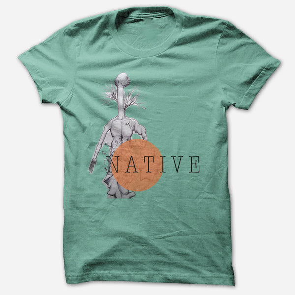 Treeman Mint T-Shirt by Native for sale on hellomerch.com
