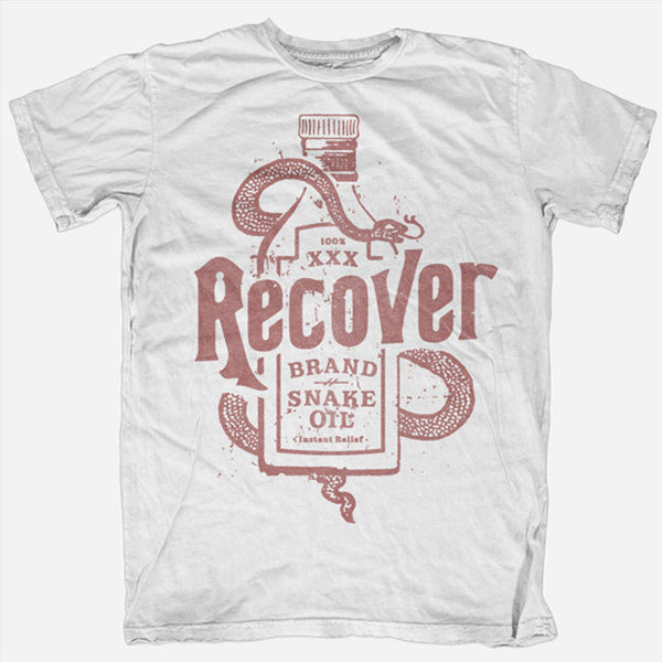 Snake Oil White T-Shirt by Recover for sale on hellomerch.com