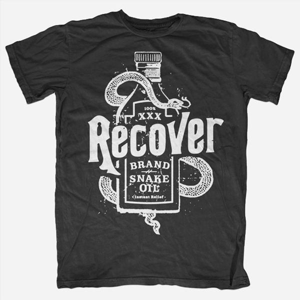 Snake Oil Black T-Shirt by Recover for sale on hellomerch.com