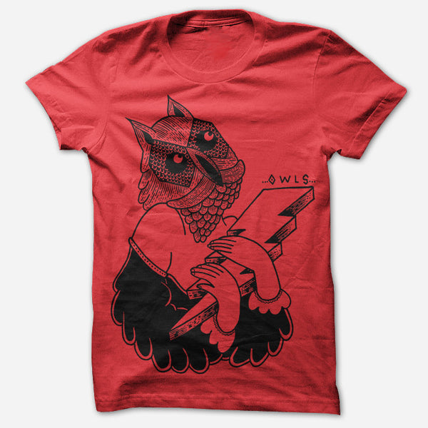 Bolt Red T-Shirt by Owls for sale on hellomerch.com
