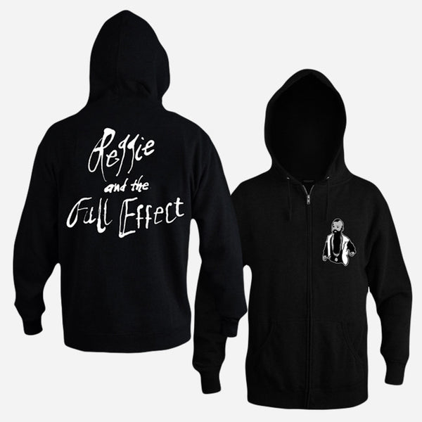 Little Carson Black Zip Hoodie by Reggie and the Full Effect for sale on hellomerch.com