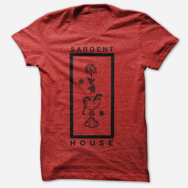 Wine, Snakes & Roses Vintage Red Tri-Blend - Sargent House - Hello Merch