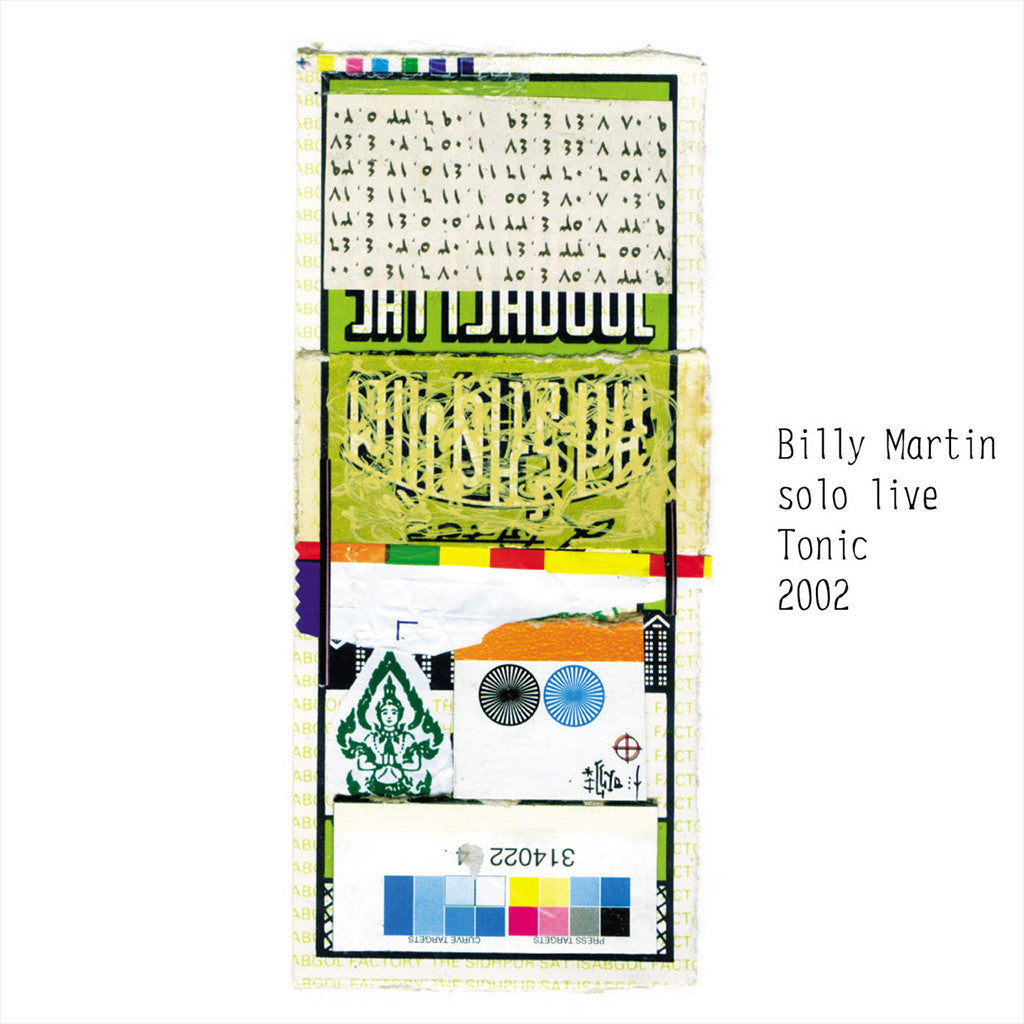 Solo Live Tonic 2002 CD - Billy Martin - Hello Merch
