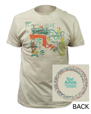 2014 Tour Cream T-Shirt by Tori Amos for sale on hellomerch.com