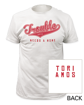 Trouble White T-Shirt by Tori Amos for sale on hellomerch.com