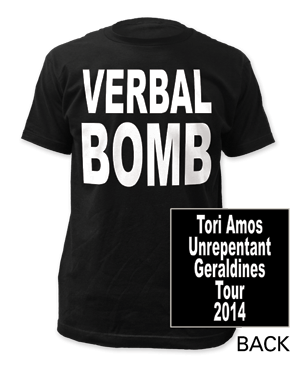 Verbal Bomb Black T-Shirt by Tori Amos for sale on hellomerch.com