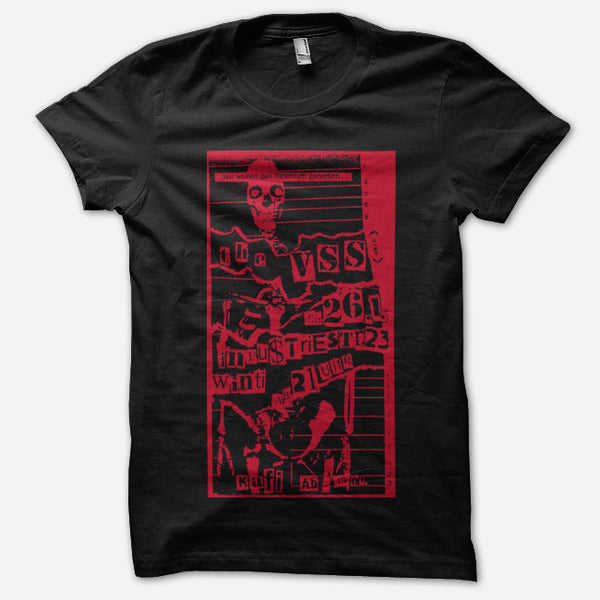 Flyer Black T-Shirt by The VSS for sale on hellomerch.com