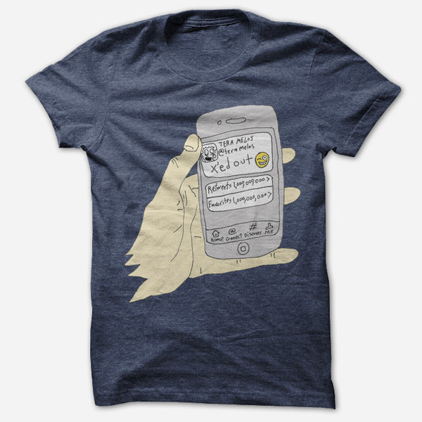 X'ed Phone T-Shirt by Tera Melos for sale on hellomerch.com