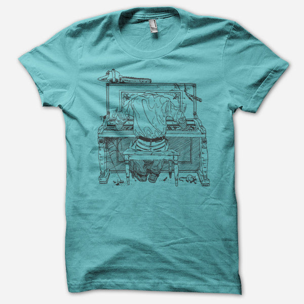 Headless Piano T-Shirt by Tera Melos for sale on hellomerch.com